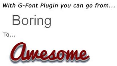 G-Font WordPress Plugin
